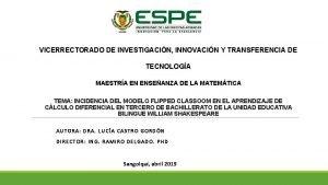 VICERRECTORADO DE INVESTIGACIN INNOVACIN Y TRANSFERENCIA DE TECNOLOGA