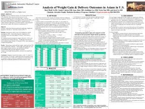 Analysis of Weight Gain Delivery Outcomes in Asians