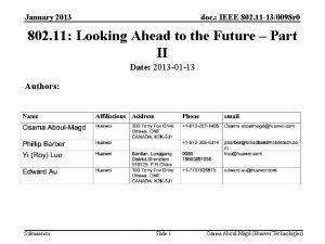 January 2013 doc IEEE 802 11 130098 r