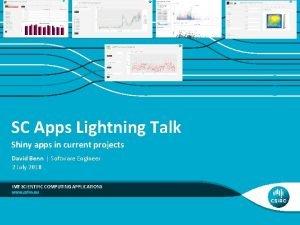 SC Apps Lightning Talk Shiny apps in current