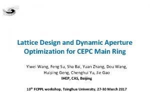 Lattice Design and Dynamic Aperture Optimization for CEPC