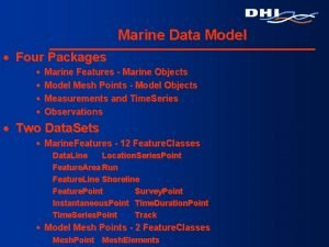 Marine Data Model Four Packages Marine Features Marine