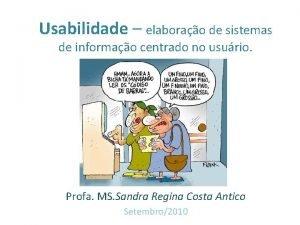 Usabilidade elaborao de sistemas de informao centrado no