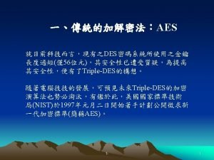 AES Advanced Encryption Standard AES AESNISTFIPS NIST 199815AES