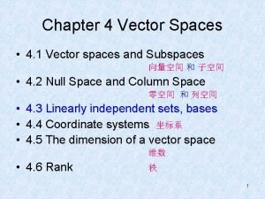 Chapter 4 Vector Spaces 4 1 Vector spaces