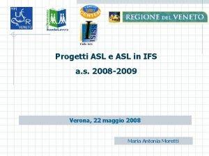 Progetti ASL e ASL in IFS a s