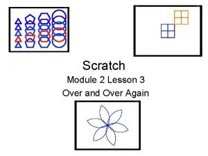 Scratch Module 2 Lesson 3 Over and Over