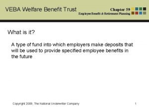 VEBA Welfare Benefit Trust Chapter 59 Employee Benefit