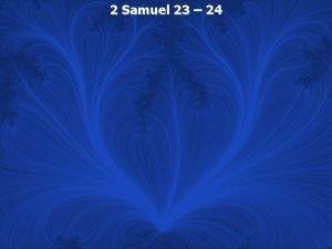 2 Samuel 23 24 2 Samuel 23 1
