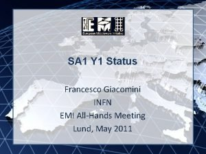EMI INFSORI261611 SA 1 Y 1 Status Francesco