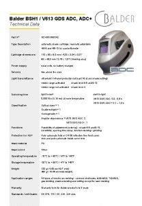 Balder BSH 1 V 613 GDS ADC ADC