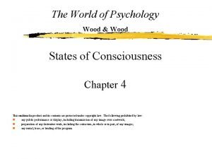 The World of Psychology Wood Wood States of
