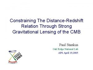 Constraining The DistanceRedshift Relation Through Strong Gravitational Lensing