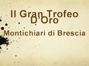 Il Gran Trofeo DOro Montichiari di Brescia Elisa