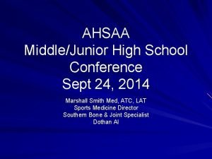AHSAA MiddleJunior High School Conference Sept 24 2014