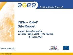 Enabling Grids for Escienc E INFN CNAF Site