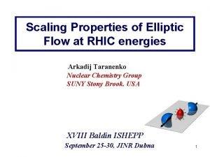 Scaling Properties of Elliptic Flow at RHIC energies