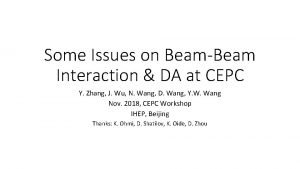 Some Issues on BeamBeam Interaction DA at CEPC