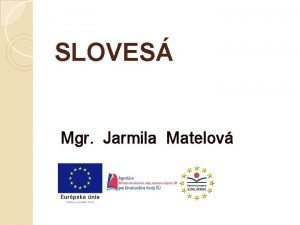 SLOVES Mgr Jarmila Matelov Sloves plnovznamov ohybn slov
