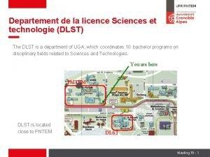Departement de la licence Sciences et technologie DLST