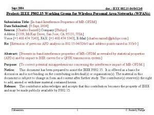 Sept 2004 doc IEEE 802 15 040412 r