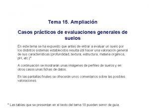 Tema 15 Ampliacin Casos prcticos de evaluaciones generales