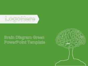 Brain Diagram Green Power Point Template Brain Diagram