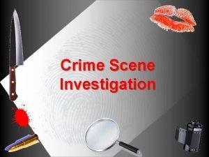 Crime Scene Investigation 1 Crime Scene Investigation Scenario