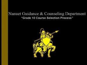 Nanuet Guidance Counseling Department Grade 10 Course Selection