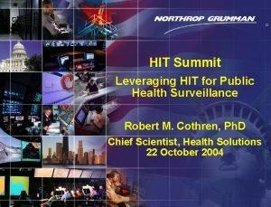 Copyright 2004 Northrop Grumman Corporation 0 HIT Summit