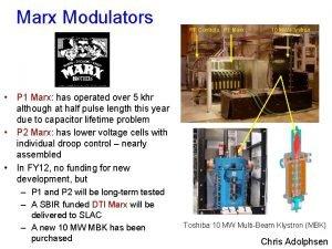 Marx Modulators RF Controls P 1 Marx 10
