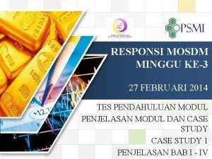 LOGO RESPONSI MOSDM MINGGU KE3 27 FEBRUARI 2014