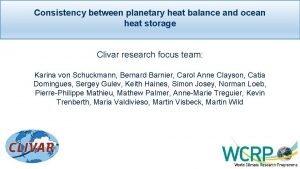 Consistency between planetary heat balance and ocean heat