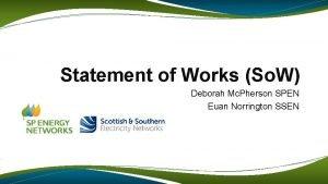 Statement of Works So W Deborah Mc Pherson