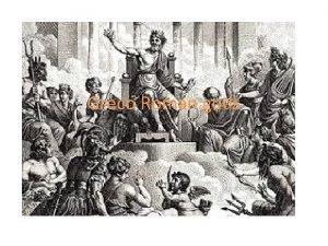 Greco Roman gods Zeus Roman name Jupiter God