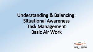 Understanding Balancing Situational Awareness Task Management Basic Air