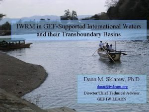 IWRM in GEFSupported International Waters and their Transboundary