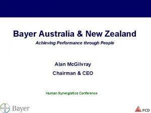 Bayer Australia New Zealand Achieving Performance through People