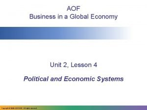 AOF Business in a Global Economy Unit 2