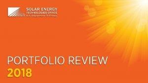 energy govsolaroffice 2018 SETO Portfolio Review Americas Electric
