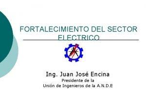 FORTALECIMIENTO DEL SECTOR ELECTRICO Ing Juan Jos Encina