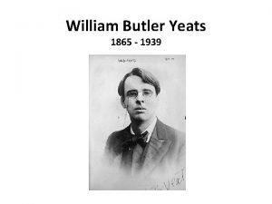 William Butler Yeats 1865 1939 The Lake Isle