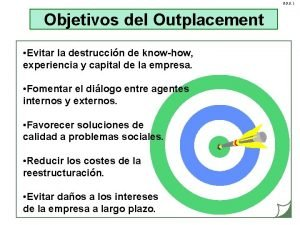 G P O 1 Objetivos del Outplacement Evitar
