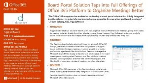 Board Portal Solution Taps into Full Offerings of
