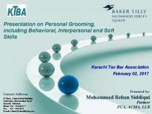 Presentation on Personal Grooming including Behavioral Interpersonal and
