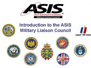 Introduction to the ASIS Military Liaison Council Military