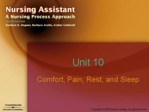 Unit 10 Comfort Pain Rest and Sleep Copyright