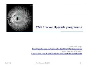CMS Tracker Upgrade programme Tracker web pages http