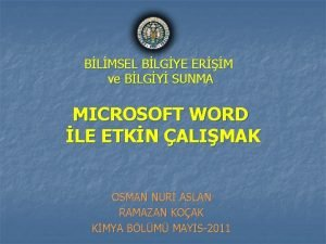 BLMSEL BLGYE ERM ve BLGY SUNMA MICROSOFT WORD