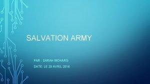 SALVATION ARMY PAR SARAH MCHARG DATE LE 29